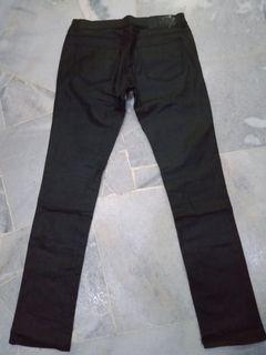 Zara jeans,leather usa,size 33/40,