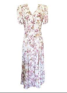 90's Vintage Floral Maxi Dress