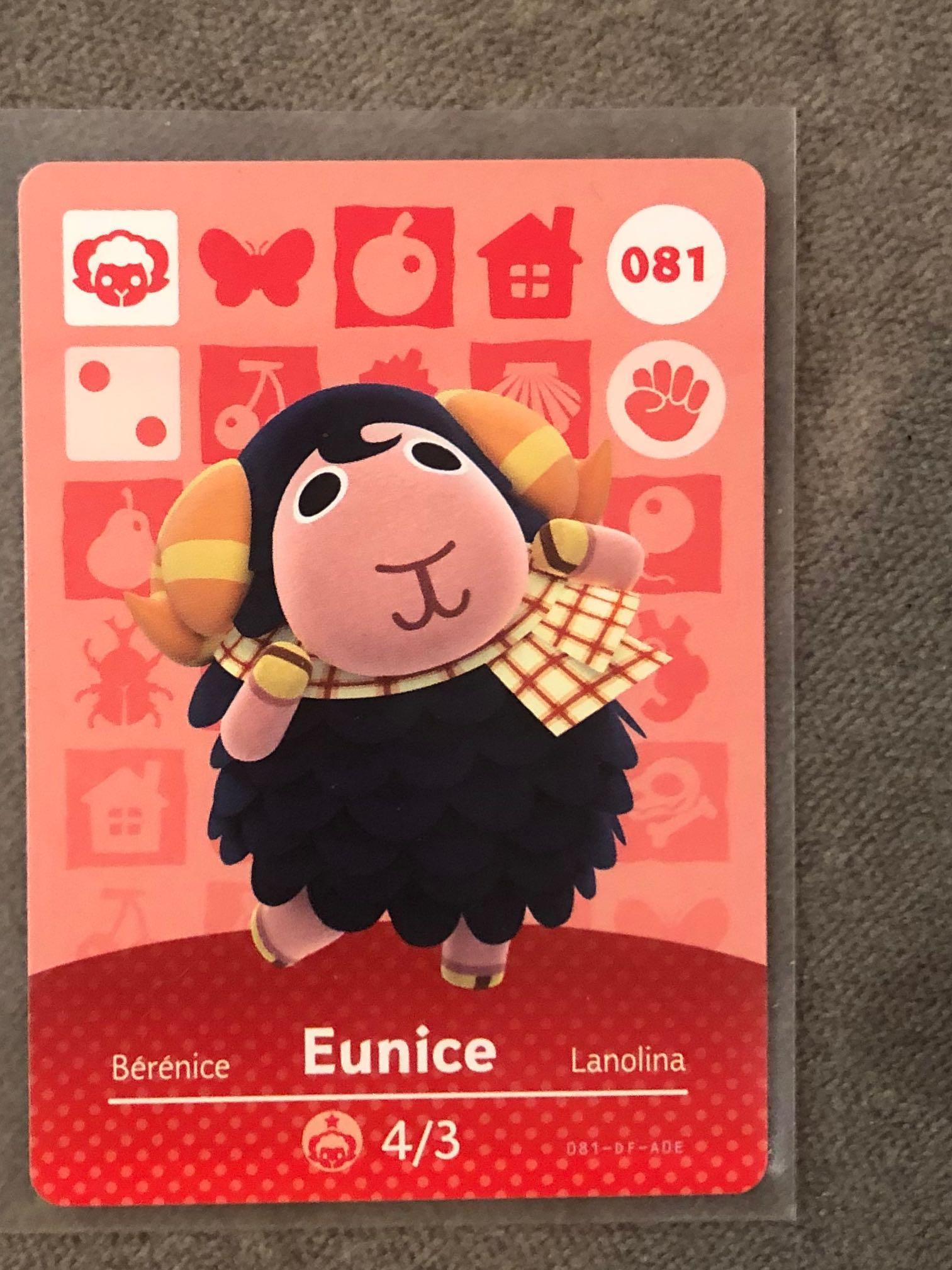 [當天出貨 ][全新現貨 ]動物森友會     官方正版  美版  amiibo卡  毛海兒 Eunice 081