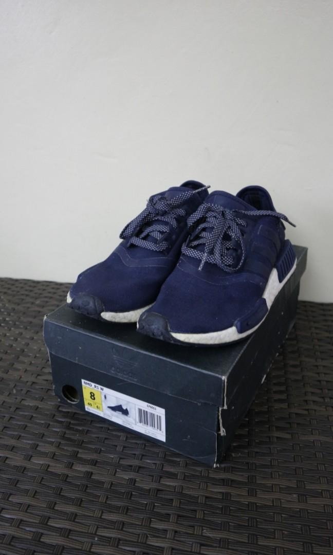 Adidas NMD R1 Navy Blue w/ Red Tab