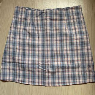 Blue Checkered/Plaid Skirt