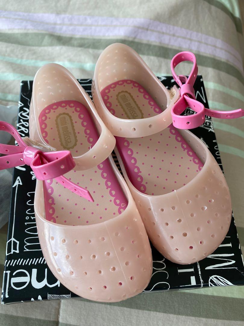 BN mini melissa pink shoes USA size 9