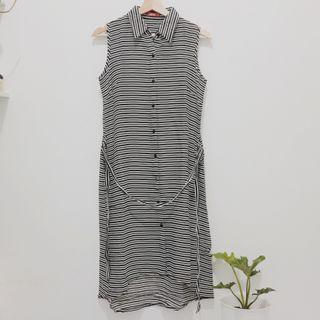 Dress Hitam Putih Graphics / Outer Hitam Putih