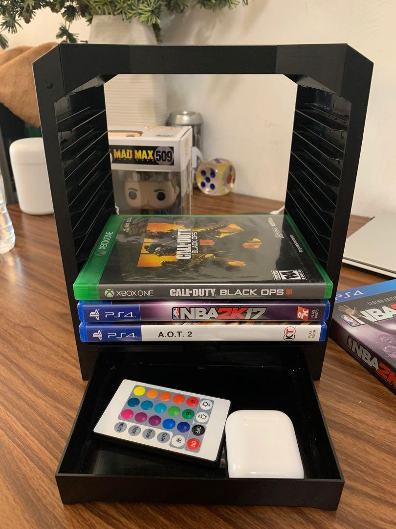 Game Storage Tower Video Gaming Gaming Accessories On Carousell