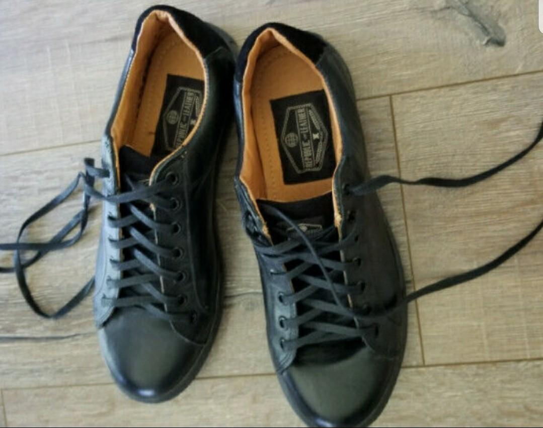 Genuine Leather Casual Men's Shoes Size 11