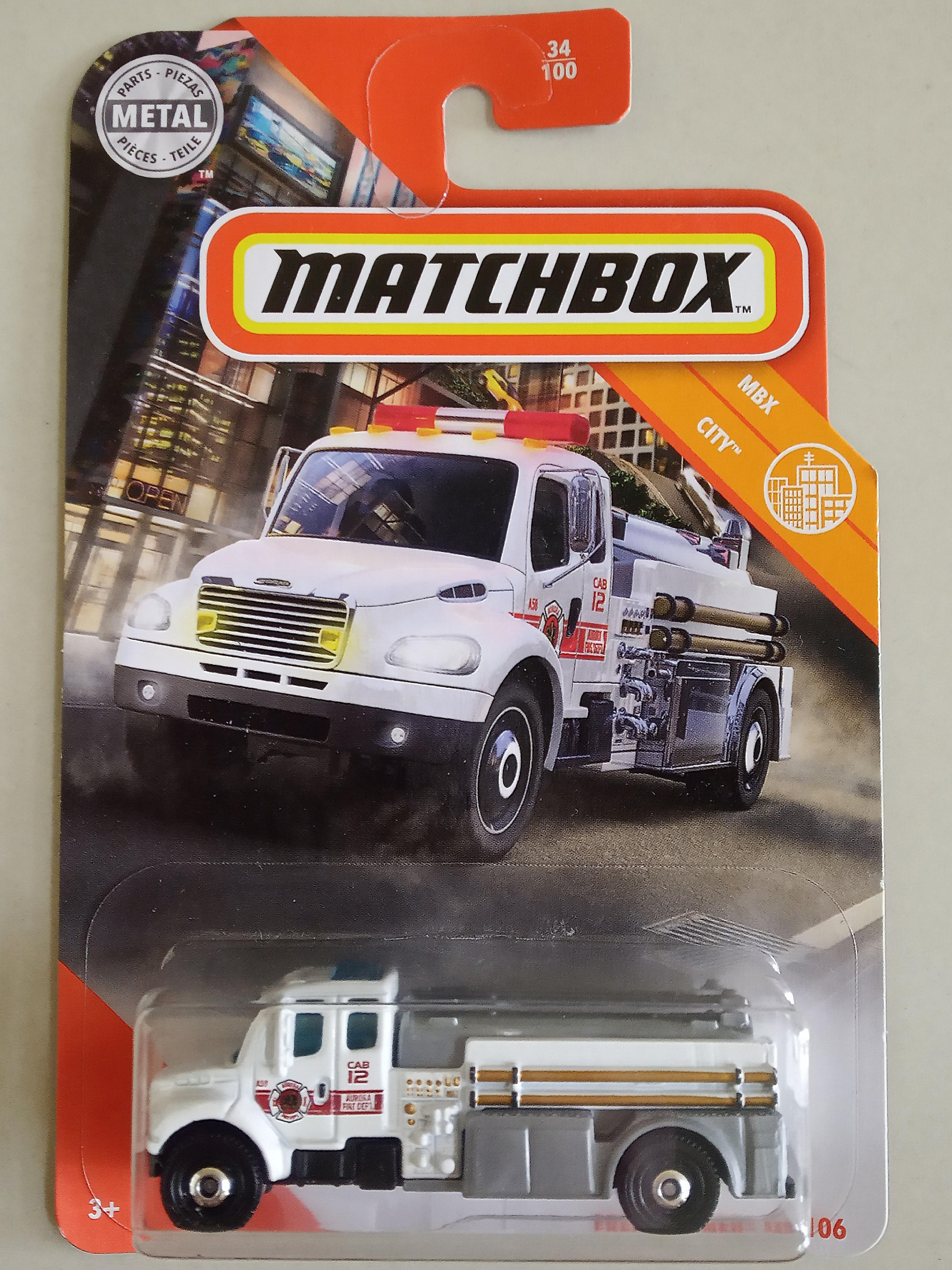 Matchbox 2020 Mbx City Freightliner M2 106 White Toys Games Diecast Toy Vehicles On Carousell