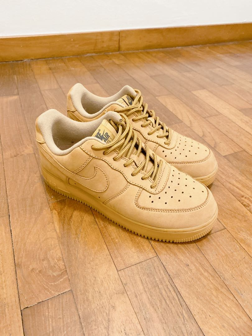 Nike Airforce 1 Suede in Camel, Women's