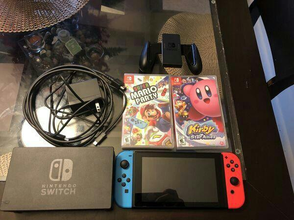 Nintendo switch combo with games