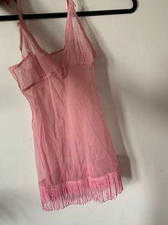 Pink lingerie vintage tassles