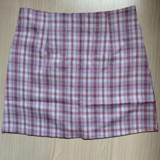 Purple Checkered/plaid skirt