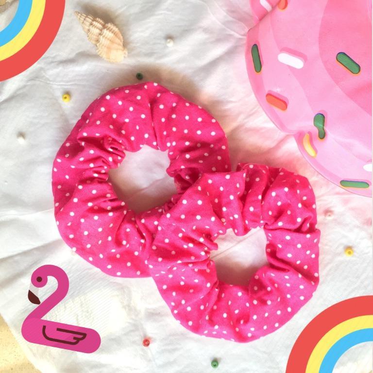 Scrunchies Pink Polkadot