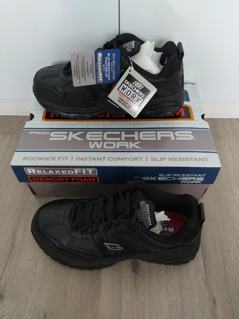 skechers work shoes mens
