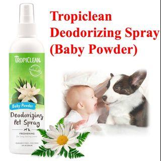 Tropiclean Baby Powder Deodorizing Spray 8oz