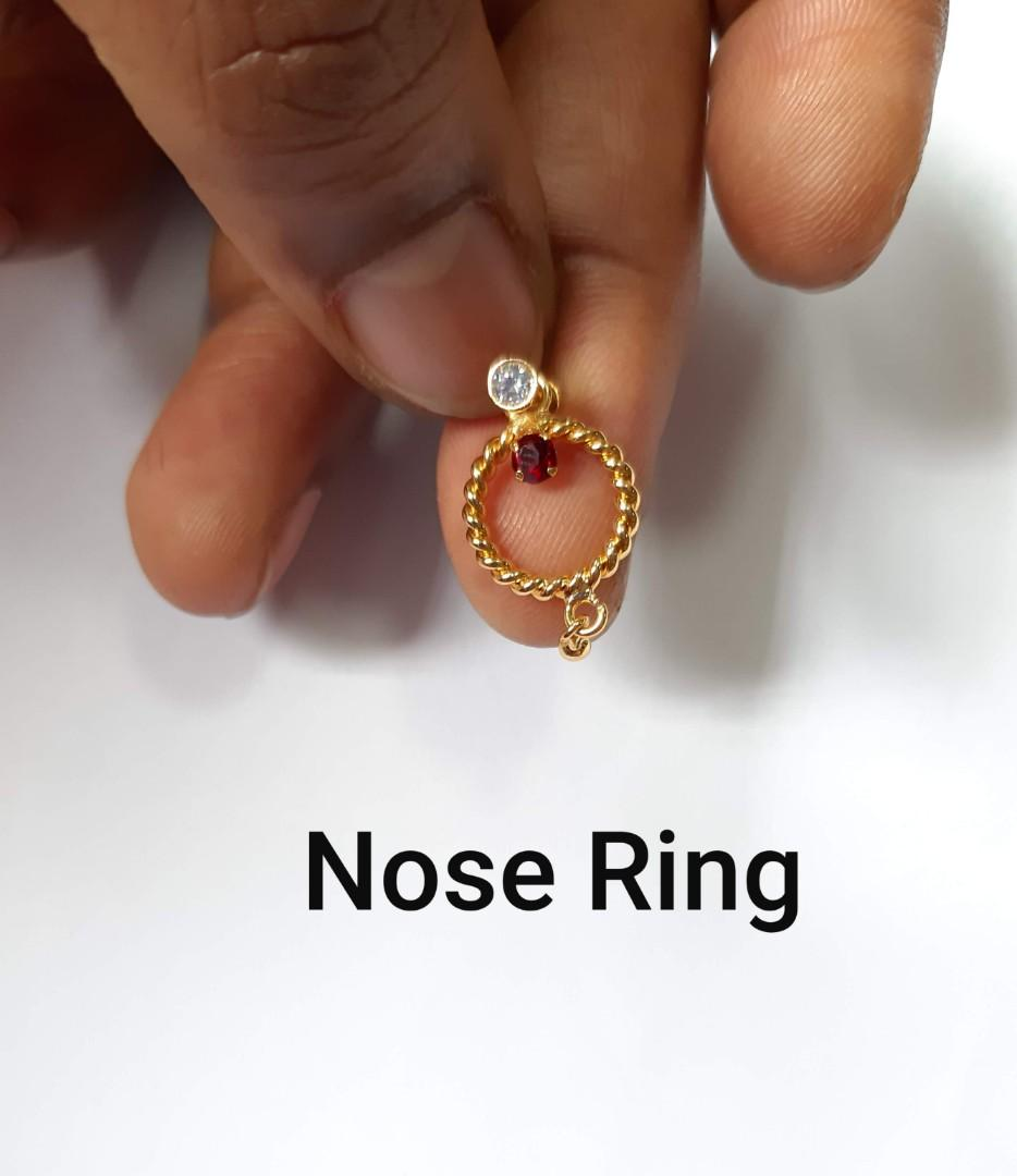 18k Gold Plated Nose Ring Women S Fashion Jewellery Others On