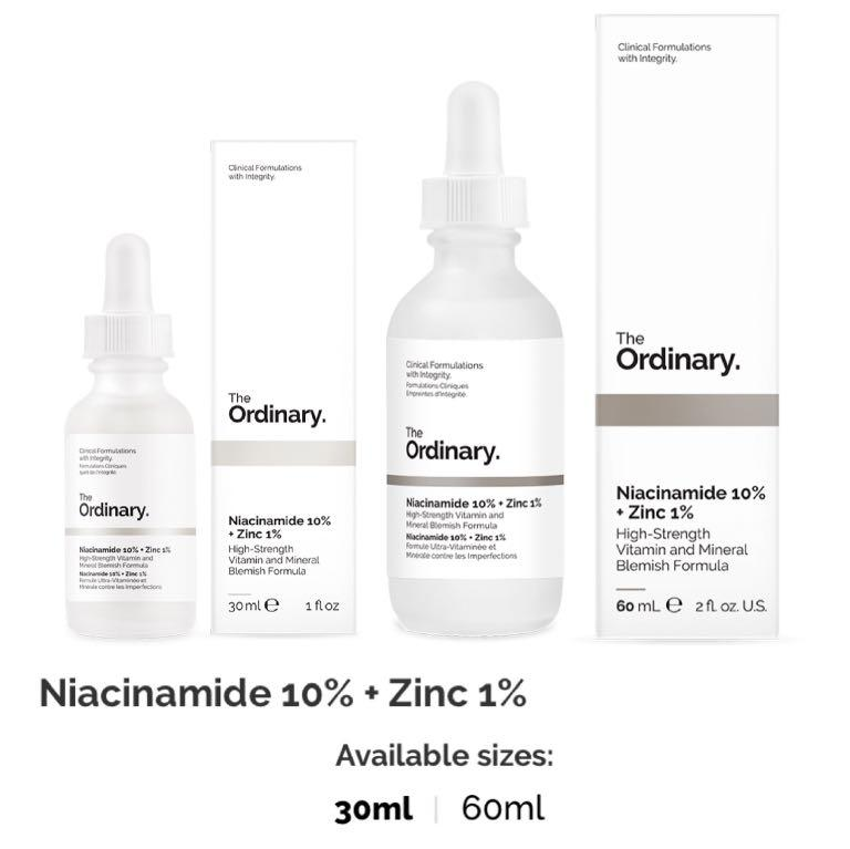30ml 60ml The Ordinary Niacinamide 10 Zinc 1 Health Beauty Face Skin Care On Carousell