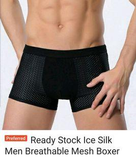 5 piece All for $18.00 -Ice Silk Men Breathable Mesh Boxer