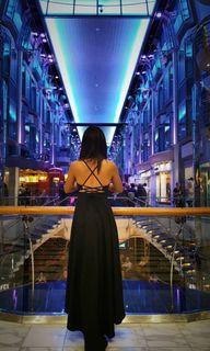 性感深藍色美背禮服