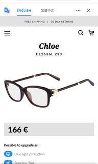 Chloe 皮革眼鏡