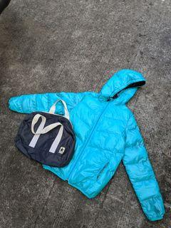 Converse Puffer Down Jacket with duffle bag