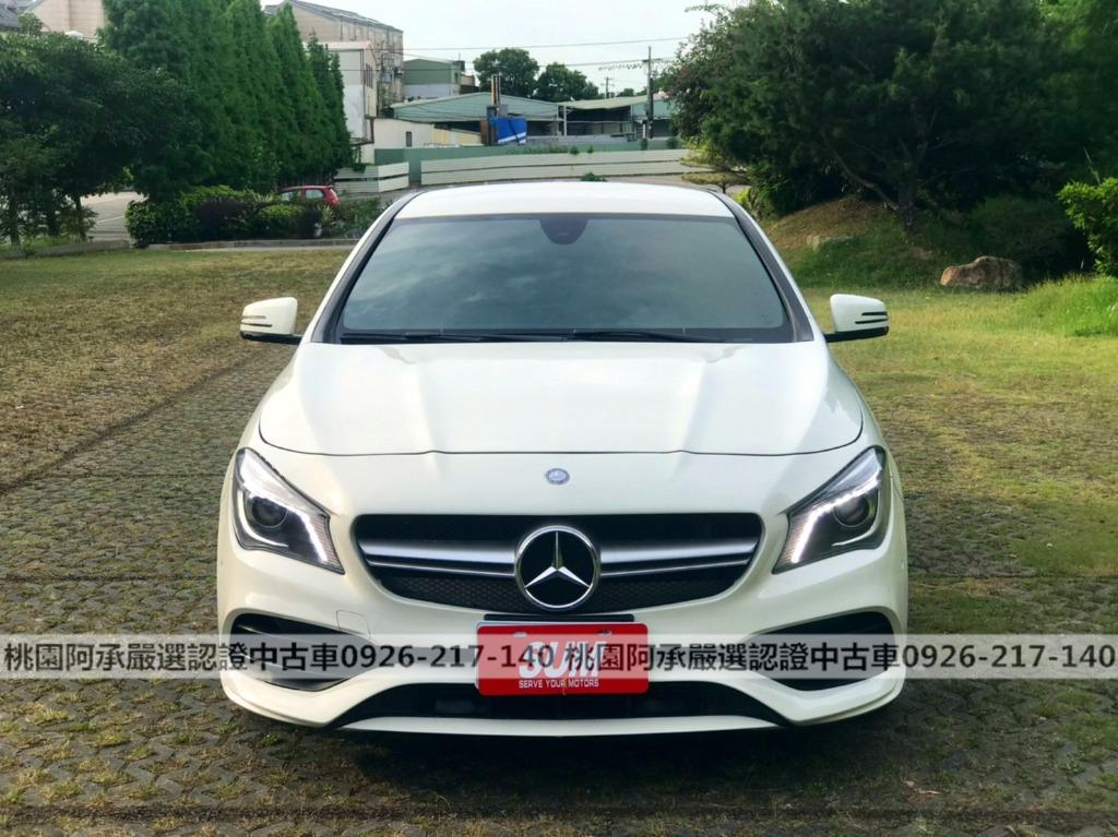 【FB搜尋桃園阿承】賓士 超人氣CLA200跑4萬 2015年 1.6CC 白色 二手車 中古車
