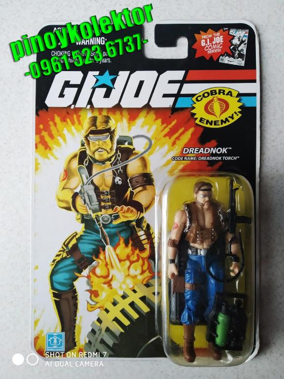 G I GI JOE 25TH ANNIVERSARY DREADNOK TORCH FIGURE MOC