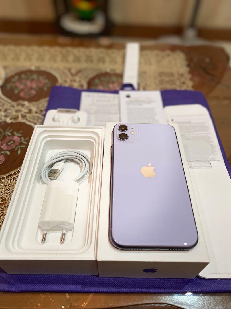 Iphone 11 128gb ibox warranty until 2021 like new, Telepon ...