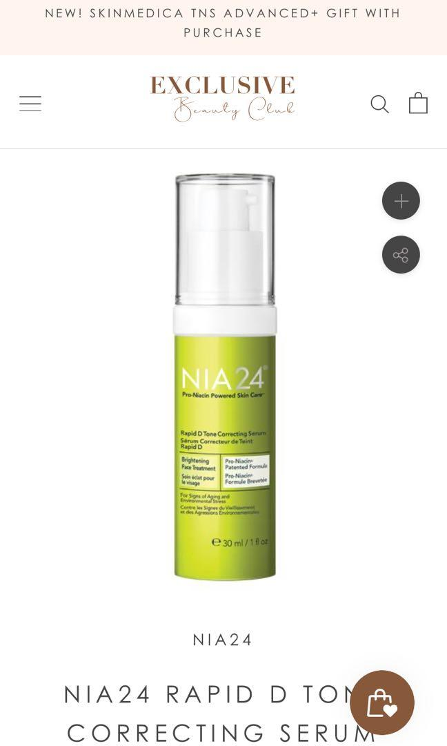 NIA24 Rapid D Tone Correcting Cream