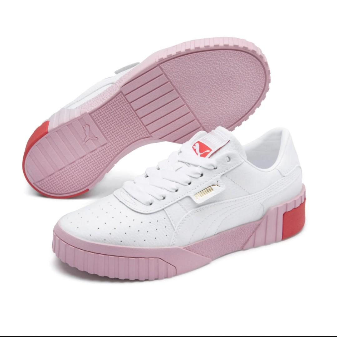 Puma Cali Women's White and Pink