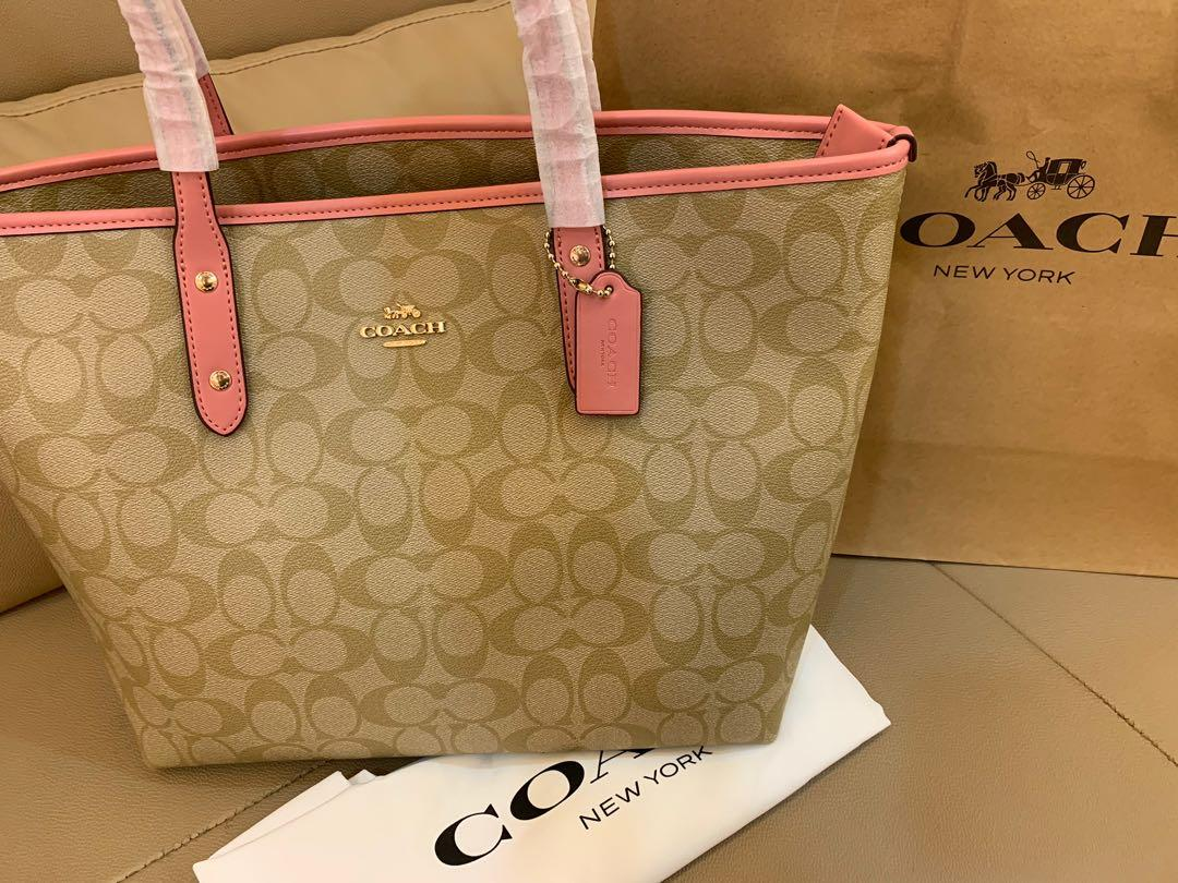 Ready Stock Authentic Coach 58292 women citi totes with zip shoulder bags