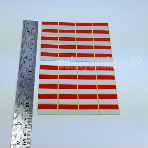 Sticker Helm Stiker Cutting Motor Merah Putih Reflective Sticker 40pcs Stiker lambang bendera Merah putih size kecil paket promo hemat produk terlaris