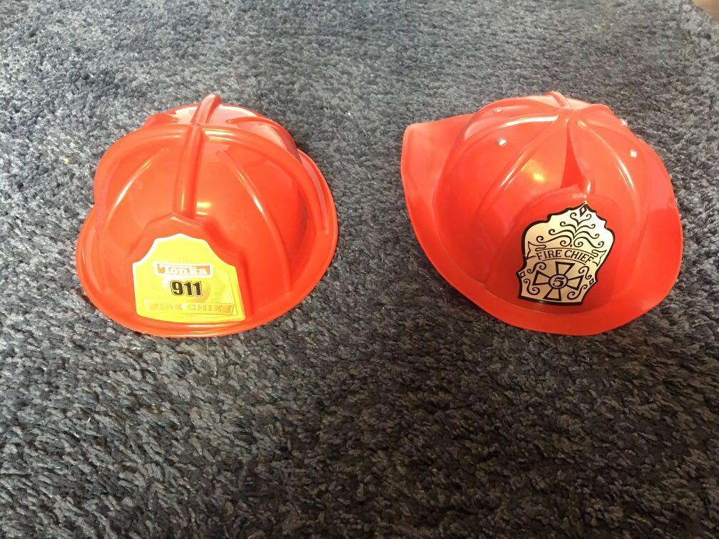 Toy firefighter hats