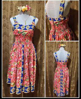 VINTAGE RETRO FLORAL D & G INSPIRED DRESS