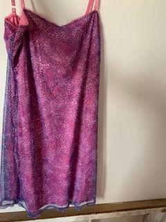 Y2K pink purple vintage leopard dress