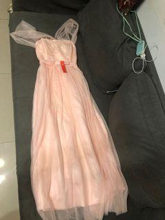 《全新》粉色伴娘長裙