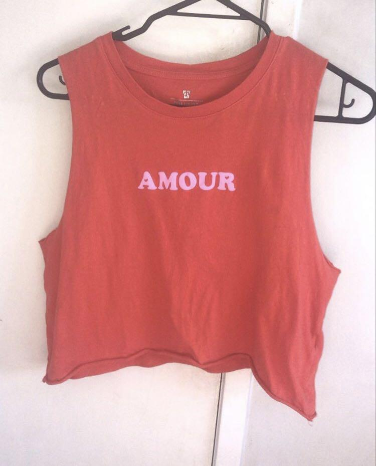 """""""AMOUR"""" tank top"""