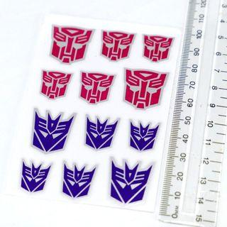 Autobot and Decepticon Faction Decal (large, silver border)