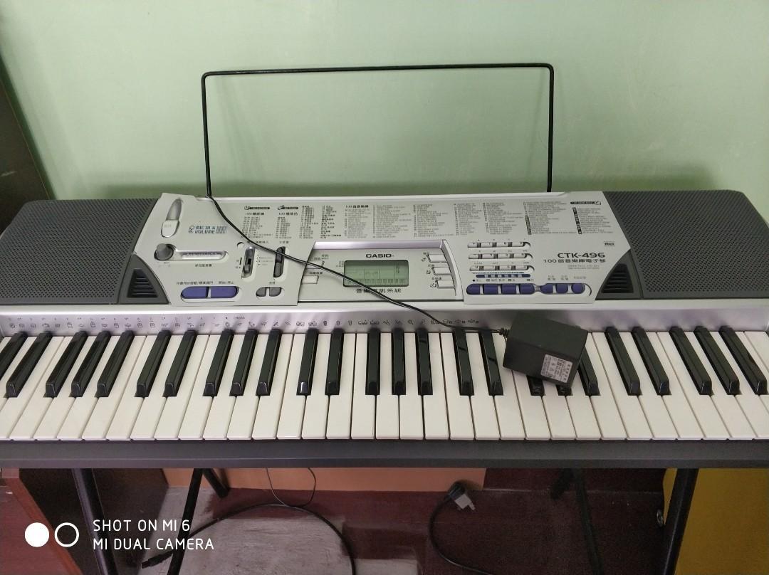 卡西歐電子琴CTK-496含琴座