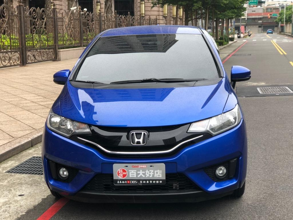 【FB搜尋桃園阿承】本田 超人氣FIT頂級跑4萬 2014年 1.5CC 藍色 二手車 中古車