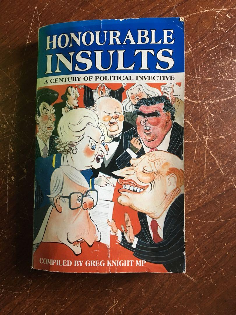 Greg knight honourable insults book