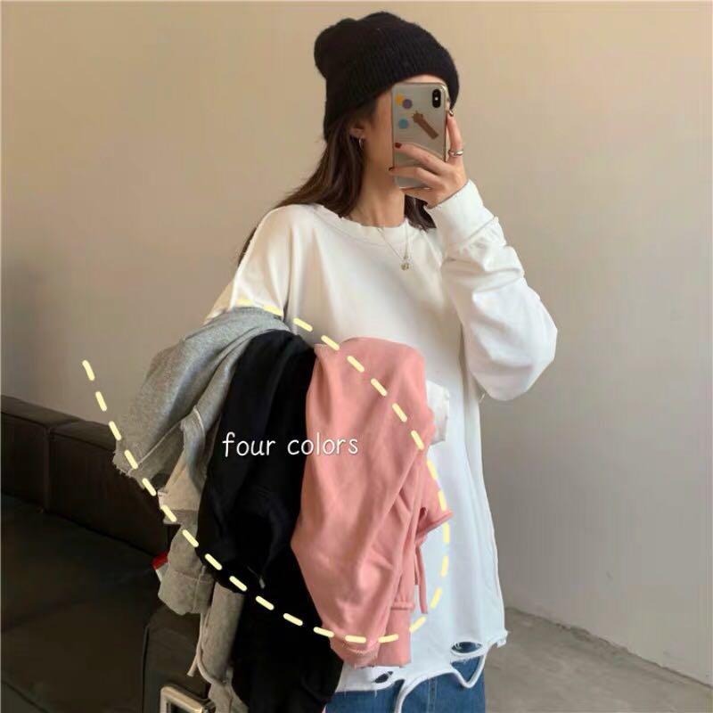 grey/black/white/pink sweatshirt hoodie