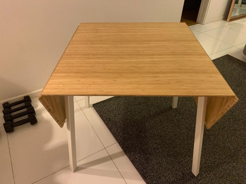 Ikea Drop Leaf Table Bought In Feb 2019 Furniture Tables Chairs On Carousell
