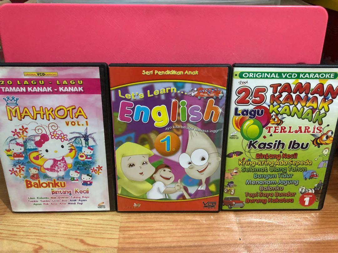 Lagu Anak VCD Karaoke Original for 3pcs