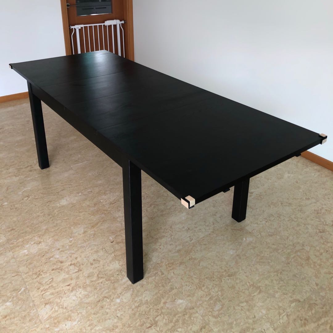Large Extendable Dining Table Furniture Tables Chairs On Carousell
