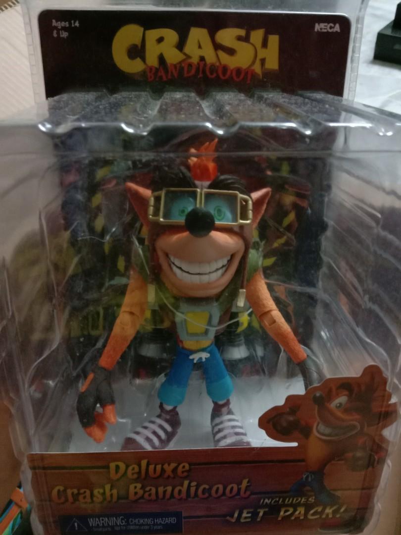 Official Crash Bandicoot Crash w// Jetpack Deluxe Action Figure Neca