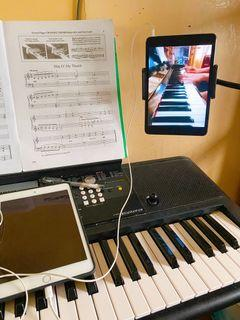 Online piano and voice lesson