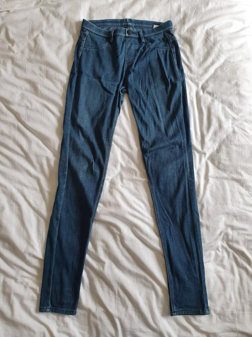 Pre Loved Uniqlo Jeggings Denim Leggings Pants S Size Women S Fashion Clothes Bottoms On Carousell