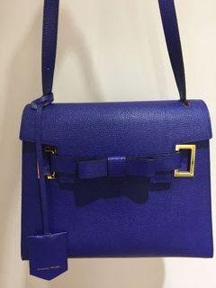 日本🇯🇵品牌Samantha Thavasa 寶藍色蝴蝶結肩背包