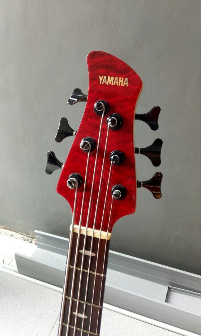 Yamaha TRB 1006 Bass Japan 6 String Dark Red TRB1006 - 6 senar Jepang