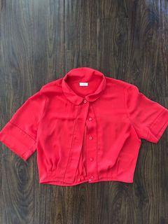 Aritizia size S red blouse