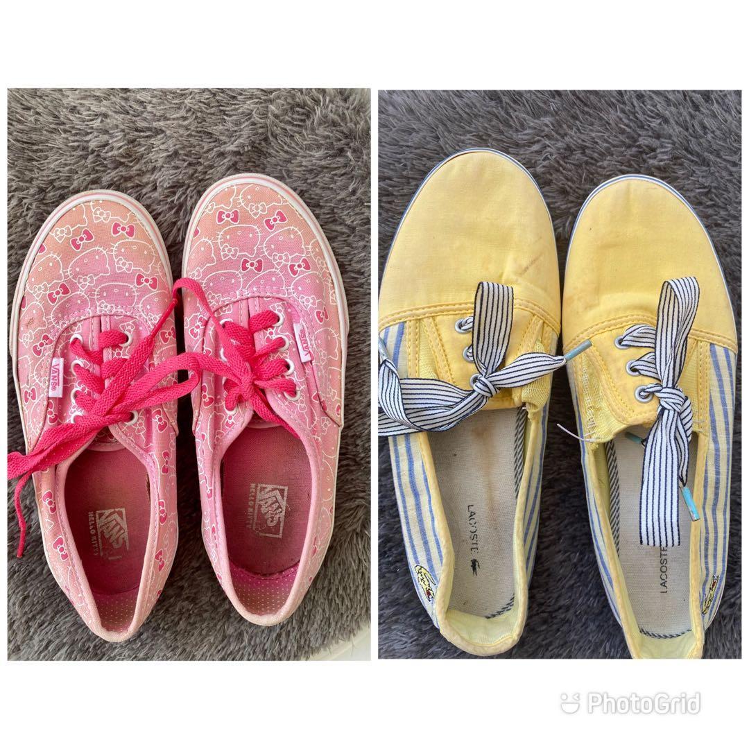 Authentic Vans and Lacoste Shoes, Women